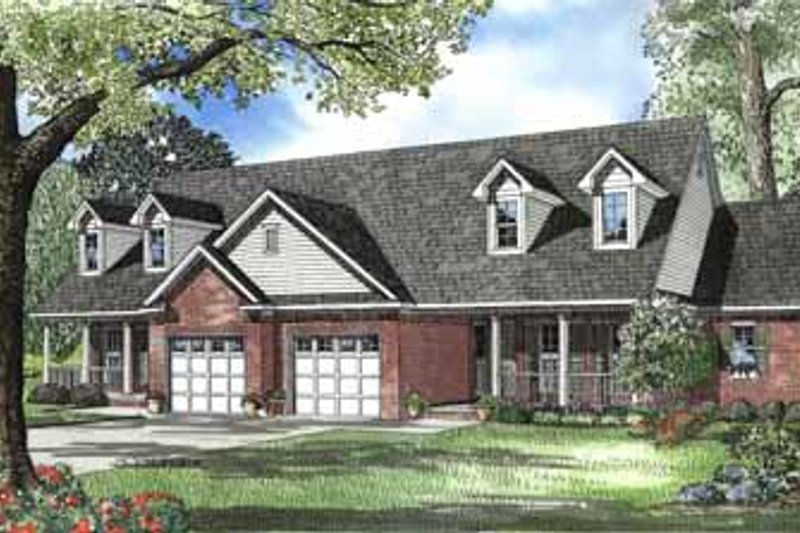 Dream House Plan - Traditional Exterior - Front Elevation Plan #17-549