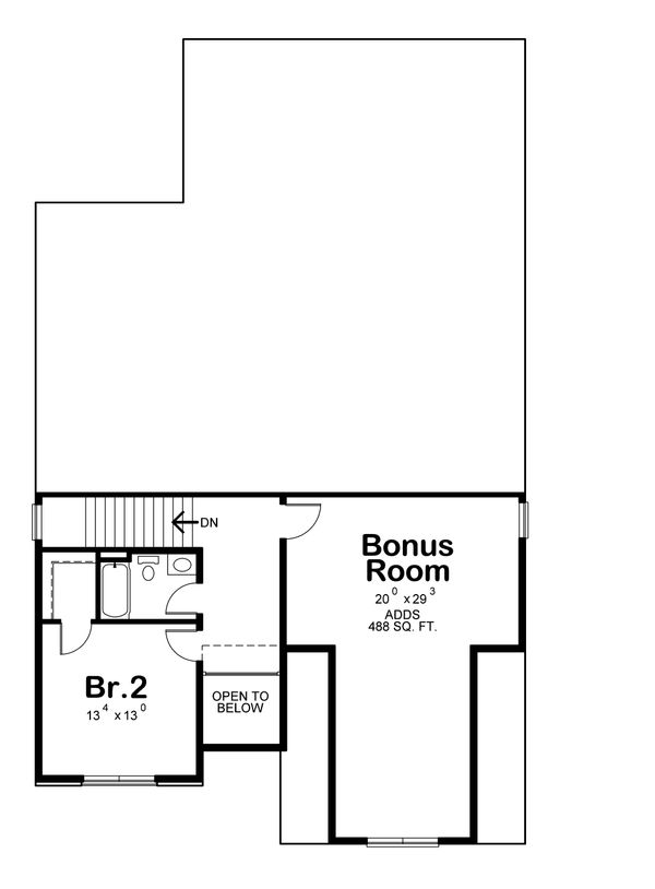 Craftsman Floor Plan - Upper Floor Plan Plan #20-2280