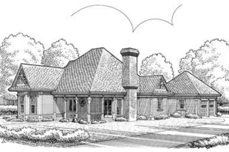 European Exterior - Front Elevation Plan #410-396