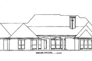 European Style House Plan - 5 Beds 4 Baths 3886 Sq/Ft Plan #141-282 Exterior - Rear Elevation