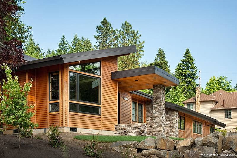 Dream House Plan - Front View - 3300 square foot Modern home