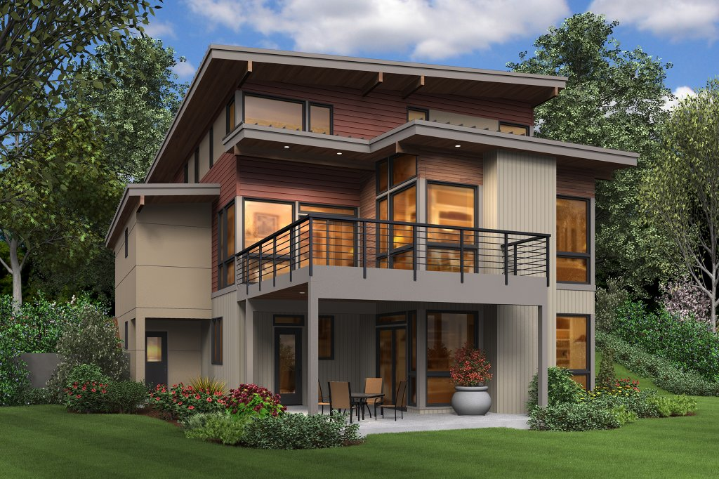 Contemporary style house plan 4 beds 3 5 baths 3026 sq for Weinmaster house plans