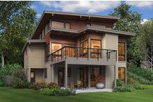 Contemporary Exterior - Rear Elevation Plan #48-656