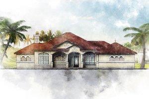 Dream House Plan - Mediterranean Exterior - Front Elevation Plan #80-117