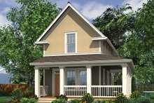 Colonial Exterior - Front Elevation Plan #48-975