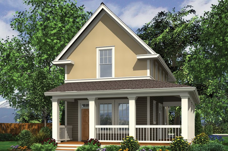 House Plan Design - Colonial Exterior - Front Elevation Plan #48-975