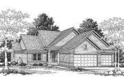 Traditional Style House Plan - 3 Beds 2.5 Baths 1898 Sq/Ft Plan #70-232 Exterior - Front Elevation