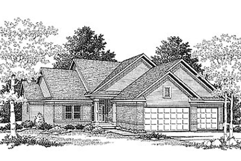 Traditional Exterior - Front Elevation Plan #70-232
