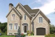 European Style House Plan - 3 Beds 1.5 Baths 1783 Sq/Ft Plan #138-176 Exterior - Front Elevation