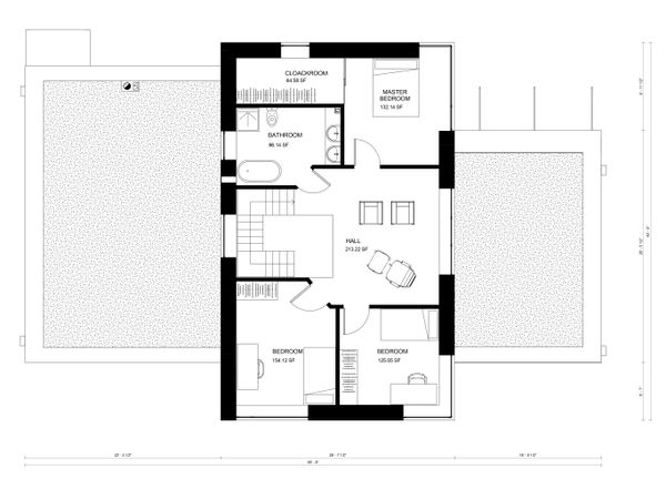 Modern Floor Plan - Upper Floor Plan #906-28