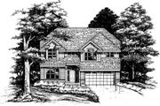 Traditional Style House Plan - 4 Beds 2.5 Baths 2389 Sq/Ft Plan #50-166 Exterior - Front Elevation