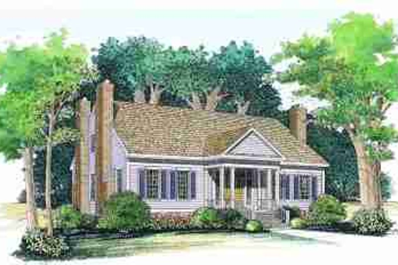 House Blueprint - Colonial Exterior - Front Elevation Plan #72-327