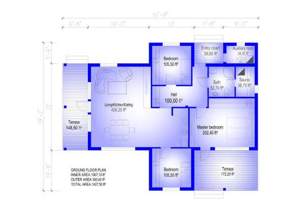 Cabin Floor Plan - Main Floor Plan Plan #549-25