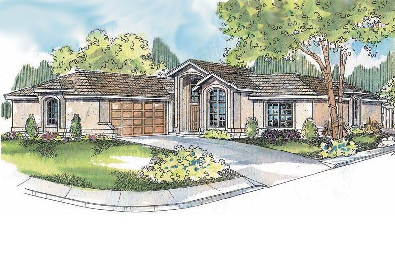 Home Plan Design - Ranch Exterior - Front Elevation Plan #124-501