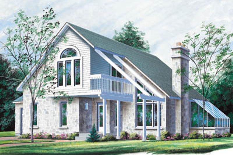 Dream House Plan - Modern Exterior - Front Elevation Plan #23-2044