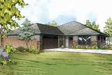 Prairie Exterior - Front Elevation Plan #124-911