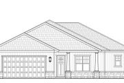 Craftsman Style House Plan - 3 Beds 2 Baths 1804 Sq/Ft Plan #938-98 Exterior - Front Elevation