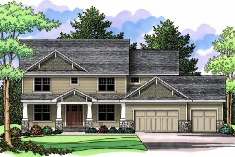 Craftsman Exterior - Front Elevation Plan #51-368