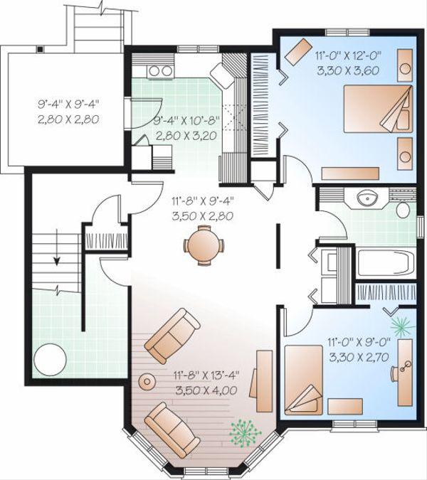 European Floor Plan - Lower Floor Plan #23-773