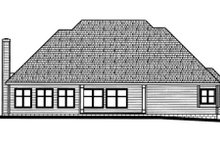 Dream House Plan - Traditional Exterior - Rear Elevation Plan #20-939