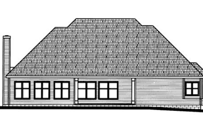 Traditional Exterior - Rear Elevation Plan #20-939 - Houseplans.com