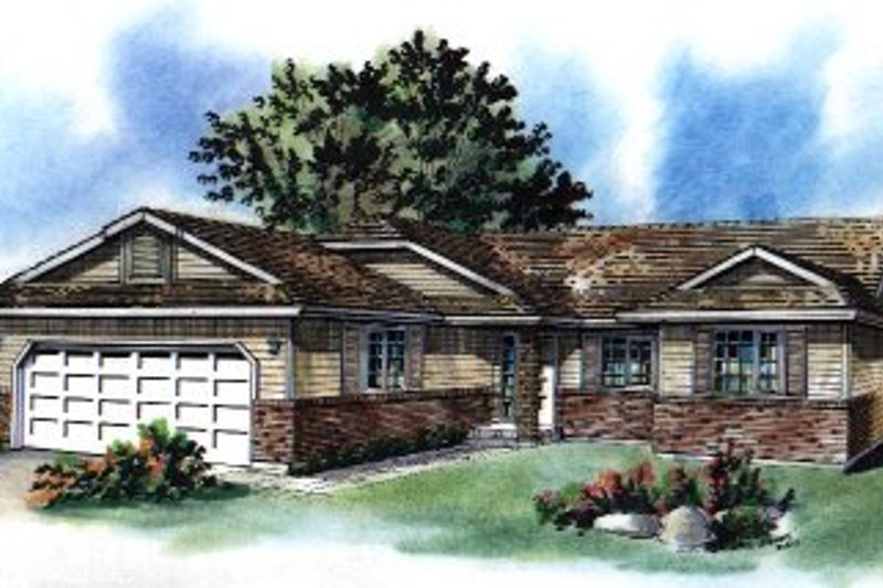 House Blueprint - Ranch Exterior - Front Elevation Plan #18-170