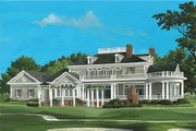 Southern Style House Plan - 4 Beds 5.5 Baths 5564 Sq/Ft Plan #137-186 Exterior - Rear Elevation