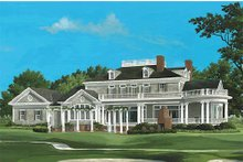 Dream House Plan - Southern Exterior - Rear Elevation Plan #137-186