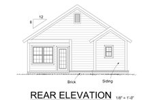 Cottage Exterior - Rear Elevation Plan #513-5