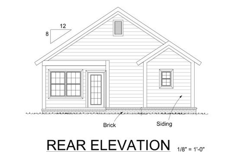 Cottage Exterior - Rear Elevation Plan #513-5 - Houseplans.com