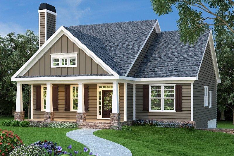 Dream House Plan - Craftsman Exterior - Front Elevation Plan #419-244