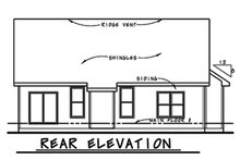 House Plan Design - Ranch Exterior - Rear Elevation Plan #20-2290