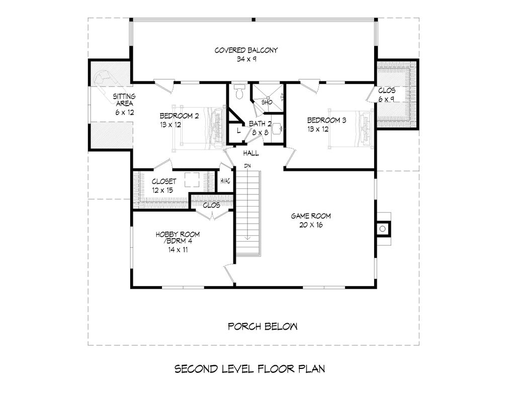 Cabin Style House Plan 4 Beds 2 5 Baths 2388 Sq Ft Plan 932 44 Homeplans Com