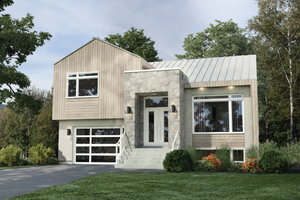 Dream House Plan - Contemporary Exterior - Front Elevation Plan #25-4879