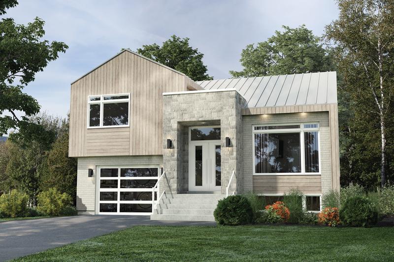 House Plan Design - Contemporary Exterior - Front Elevation Plan #25-4879