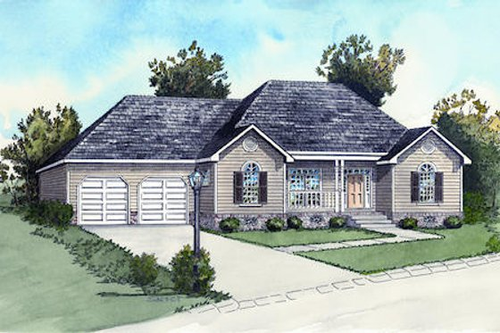 Country Exterior - Front Elevation Plan #16-287