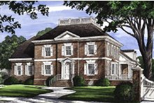 Dream House Plan - Colonial Exterior - Front Elevation Plan #137-108