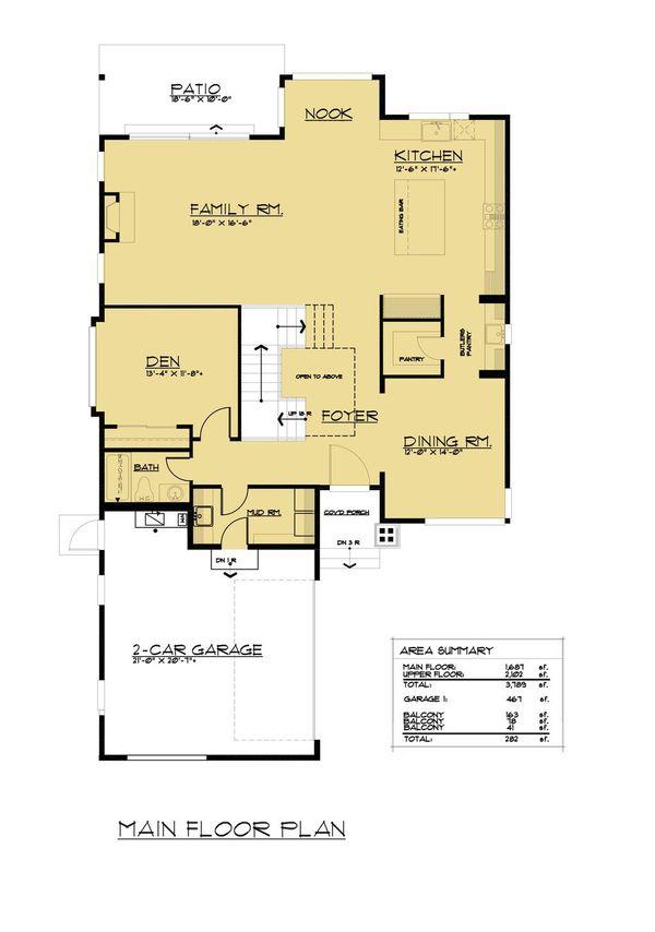 European Floor Plan - Main Floor Plan #1066-65