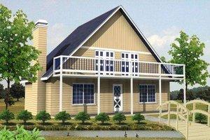 Cottage Exterior - Front Elevation Plan #1-123