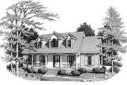 Colonial Style House Plan - 3 Beds 2 Baths 1672 Sq/Ft Plan #10-117 Exterior - Front Elevation