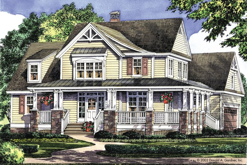 Country Exterior - Front Elevation Plan #929-19 - Houseplans.com