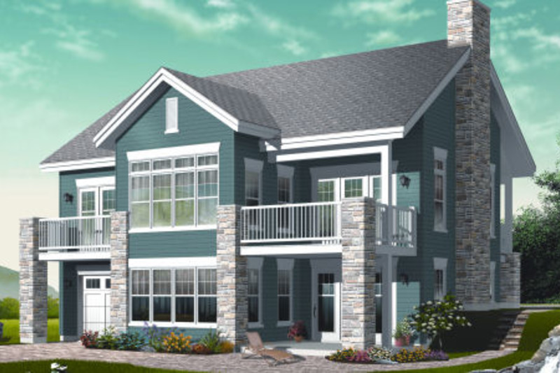 Traditional Exterior - Rear Elevation Plan #23-2268 - Houseplans.com