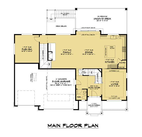 Home Plan - Modern Floor Plan - Main Floor Plan #1066-129