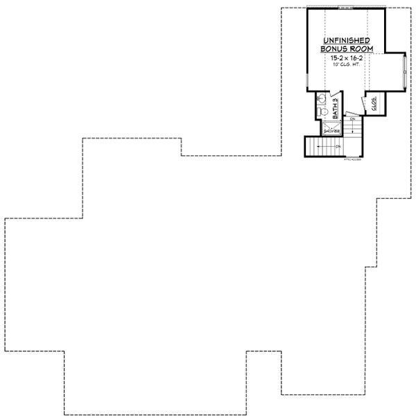 Home Plan - Country Floor Plan - Upper Floor Plan #430-171