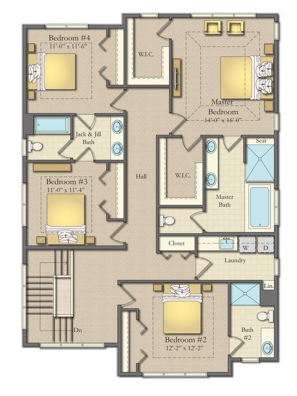 Dream House Plan - Farmhouse Floor Plan - Upper Floor Plan #1057-28