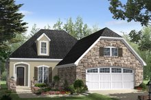 Dream House Plan - European Exterior - Front Elevation Plan #21-260