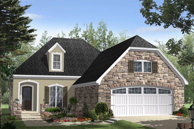 Home Plan - European Exterior - Front Elevation Plan #21-260