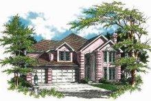 Dream House Plan - Mediterranean Exterior - Front Elevation Plan #48-143
