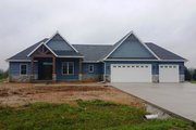 European Style House Plan - 3 Beds 2 Baths 1842 Sq/Ft Plan #430-89 Exterior - Front Elevation