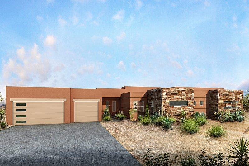 Architectural House Design - Modern Exterior - Front Elevation Plan #1073-11